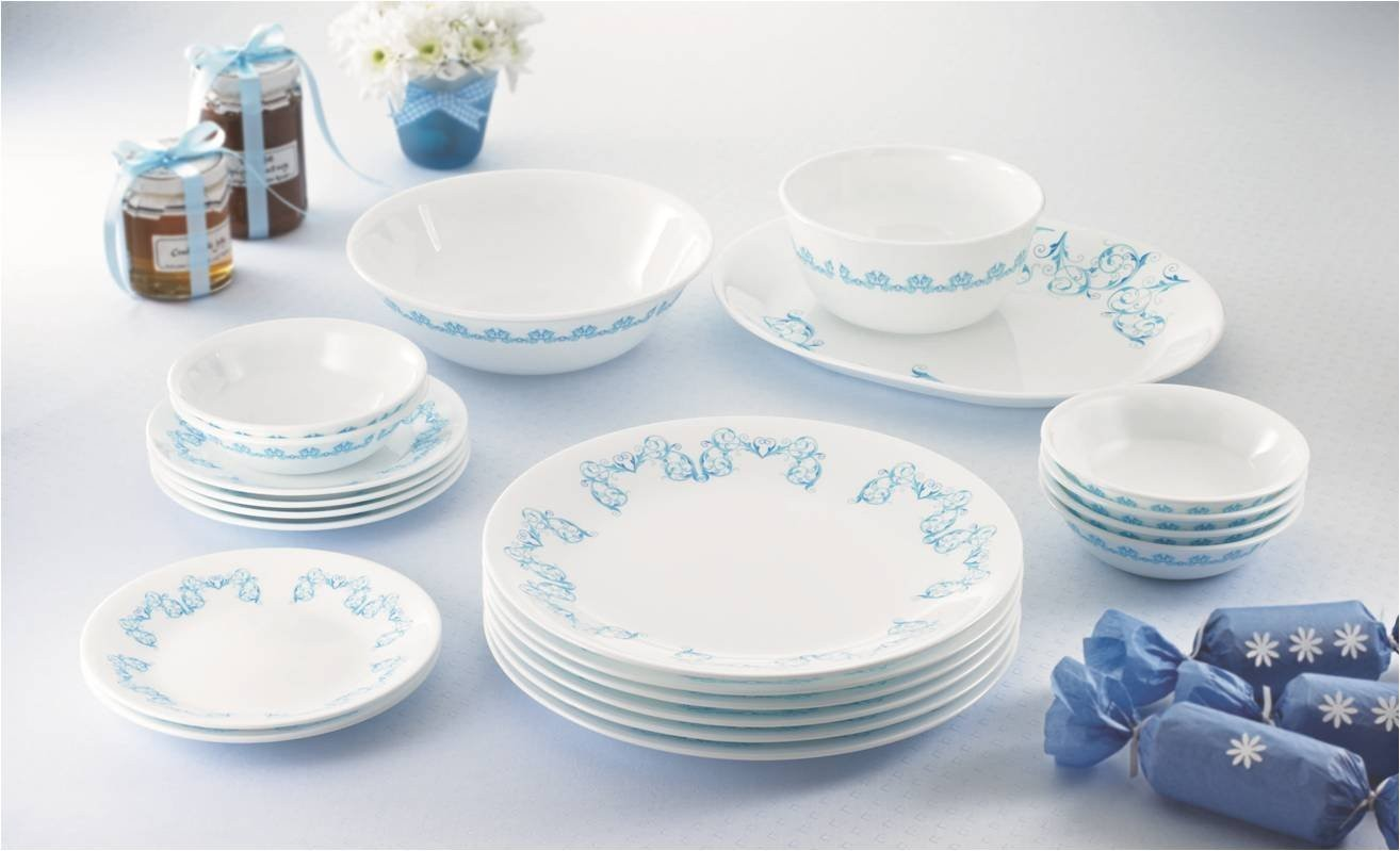 Corelle India Collection Dinner Set 21 Pcs Rhythm Kitchenwarehub : corelle dinnerware india - Pezcame.Com