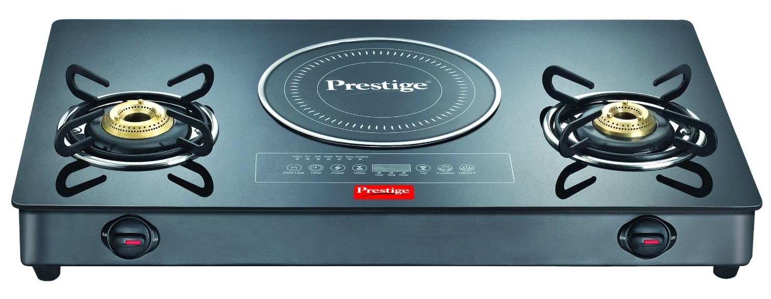 Prestige Gas Stove Glass Top Hybrid   GTIC 03L